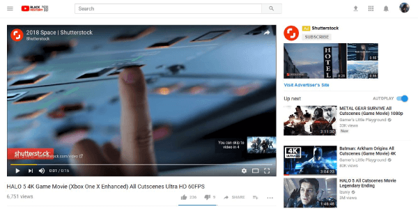 Show video ads on the youtube for as low as RM0.05 per view